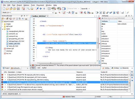 ebook xml format epub 2 0 and 3 0 support oxygen xml editor
