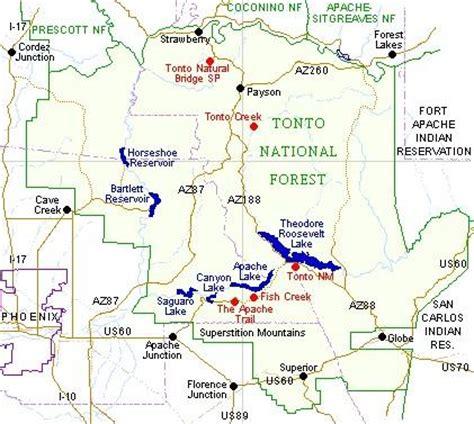 arizona national forest map tonto national forest map adriftskateshop