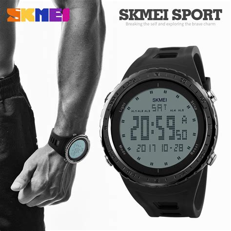 skmei brand sports watches 50m waterproof digital led outdoor electronics
