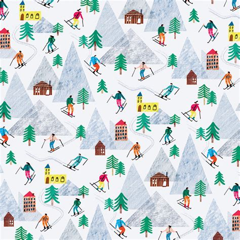 trounce on the slopes wrapping paper