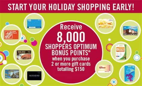Redeem Shoppers Optimum Points For Gift Cards - shoppers drug mart gift card promo is back canadian freebies coupons deals