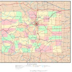 county colorado map colorado political map