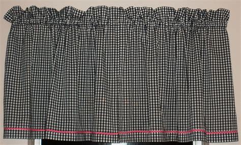 Black And White Gingham Curtains Vintage Black And White Gingham Curtains With Pink Trim
