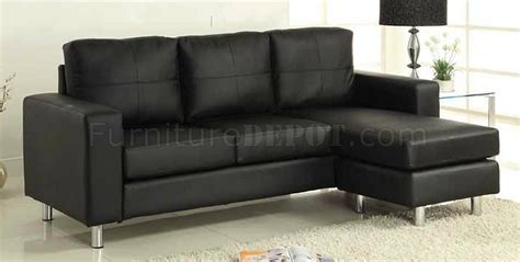 sofa ottoman set cm2122bk avon sofa ottoman set in black leatherette