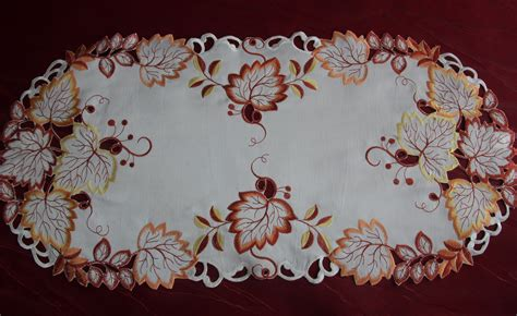 fall table runner 108 embroidered tablecloth table runner topper doily autumn