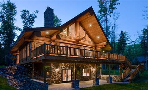 stunning log homes designed by pioneer log homes of