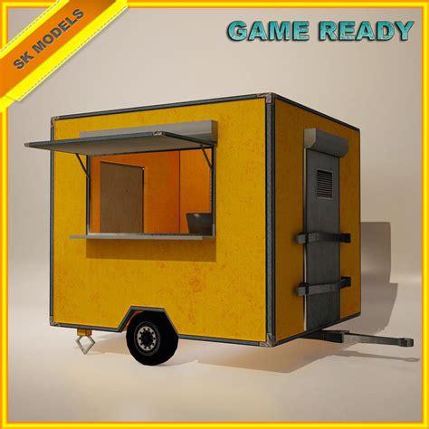 food mobile 3d model mobile food cart