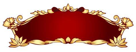 design large banner red gold art nouveau banner transparent png stickpng