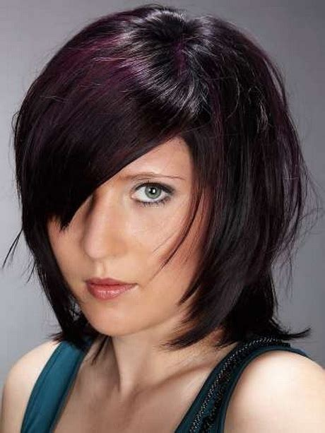 medium to short hairstyles with highlights and layers or stacked cute layered haircuts for medium hair