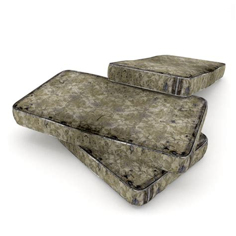 old futon 3ds max old mattress