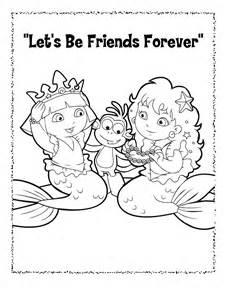 coloring page barbie mermaid image