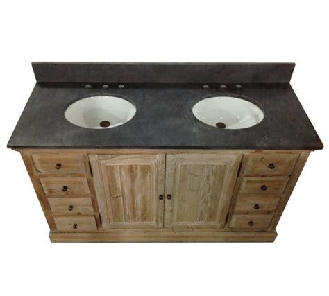 double bathroom vanities with tops legion 60 inch rustic double sink bathroom vanity wk1860 marble top