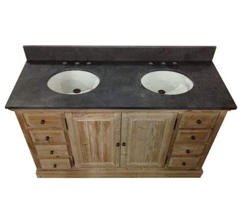 Legion 60 inch Rustic Double Sink Bathroom Vanity WK1860