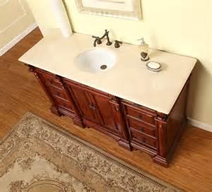 b1289 62 single sink vanity marfil marble top cabinet