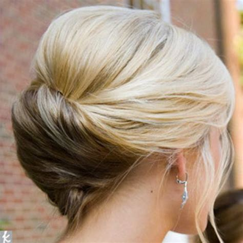 soft updo hairstyles for mothers twisted low bun hairstyle