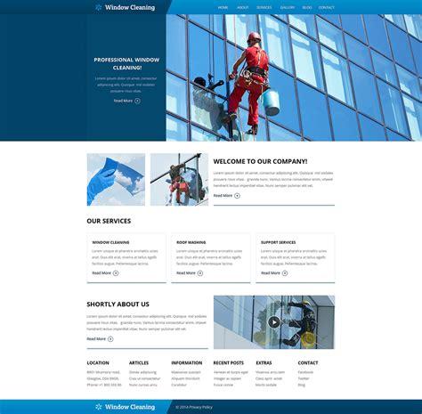 window cleaning responsive website template 49561