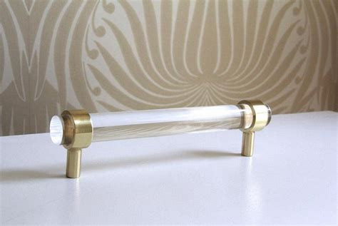acrylic and brass cabinet pulls lucite cabinet brass knob cabinet pull