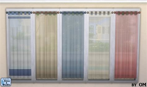 om curtains sheer tab top curtain by om at sims 4 studio 187 sims 4 updates