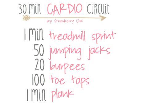 30 min cardio circuit strawberry chic