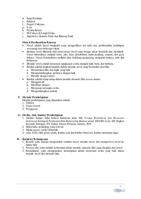 unsur intrinsik novel ayat ayat cinta 2 rpp bahas indonesia sma xii bab 7