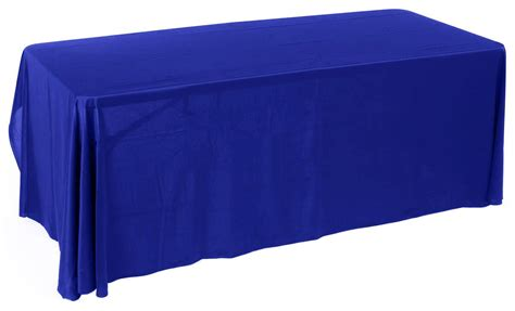 Royal Blue Table Covers by 6ft Economy Royal Blue Table Cover Trade Show Accessory
