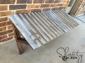 corrugated awning diy corrugated metal awning shanty 2 chic