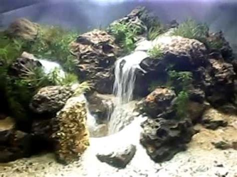 waterfall aquascape aquascape waterfall pangkalan lima bekasi youtube
