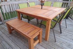 Diy Patio Tables White Cedar Patio Table Diy Projects