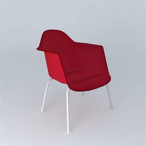 armchair red armchair red guariche houses the world 3d model max obj