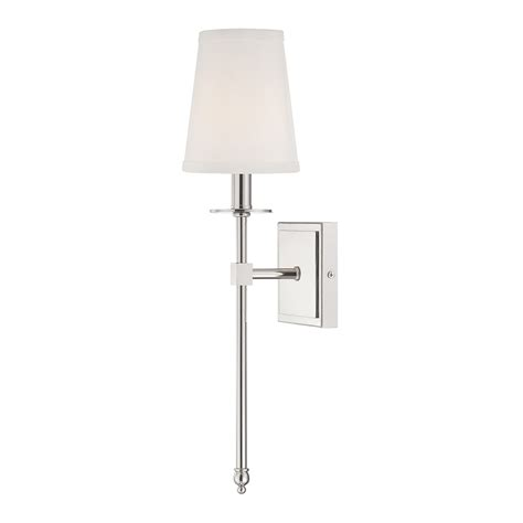 polished nickel bathroom sconces shop cascadia lighting monroe 5 in w 1 light polished nickel arm wall sconce at lowes com