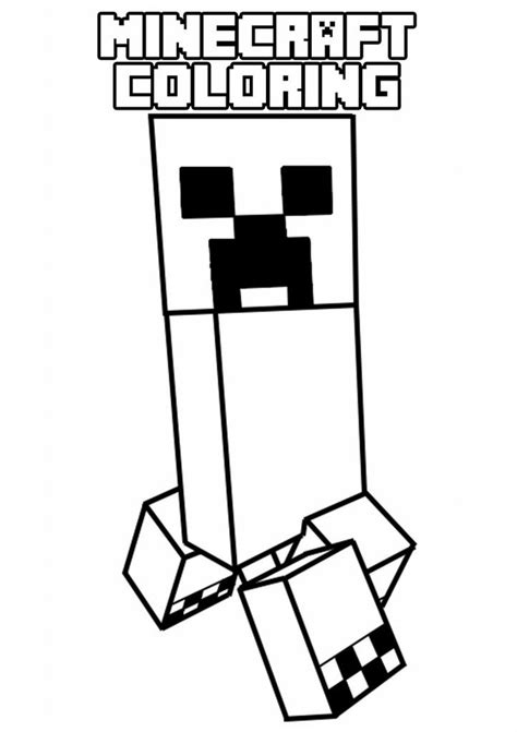 Coloring Page Minecraft by Printable Minecraft Coloring Pages Coloring Home