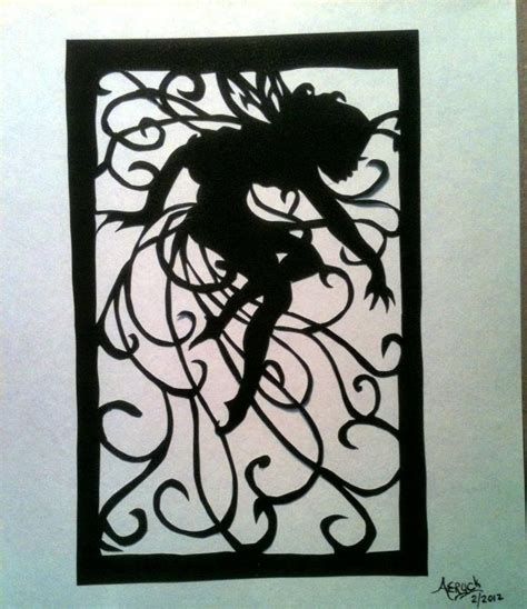 Fairy Papercut Silhouette Scherenschnitte By Aeryckdesade On Etsy Silhouette Templates For Paper Cutting