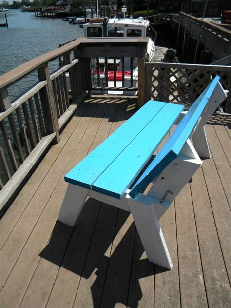 bench that folds into a picnic table how to make a diy convertible picnic table that folds into