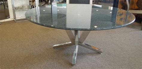 Crackle Glass Top Dining Table Contemporary Crackle Glass And Chrome Sculptural Dining Table At 1stdibs