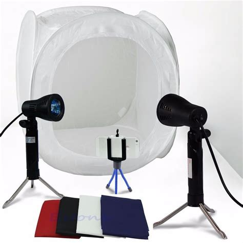 photography lighting kit with backdrop 24 quot photo studio photography light tent backdrop kit
