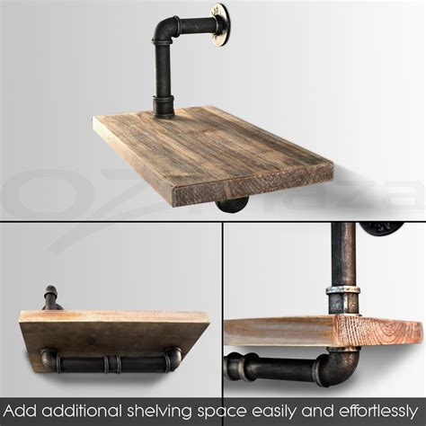 rustic industrial diy pipe shelf vintage floating shelves
