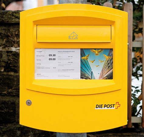 Porto Schweiz Brief Schweizer Post Gelbe Post Briefk 228 Sten Werden Ab Sommer Wieder Abends Geleert