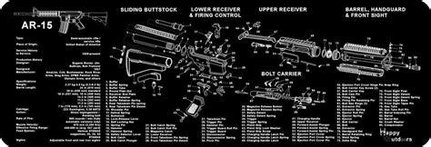 ar 15 breakdown diagram ar 15 m16 m4 armorers gun cleaning bench mat parts