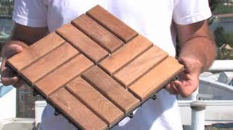 Patio Tiles Interlocking How To Install Deck Tiles Youtube