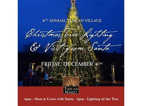 tuscan village hosts christmas tree lighting salem nh patch