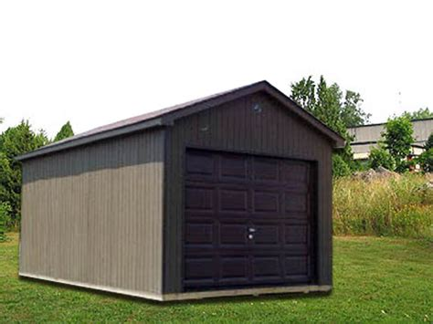 Overhead Shed Door 10 X 16 X 7 Ranch W Overhead Door R 6 Portable Buildings Inc Milford De