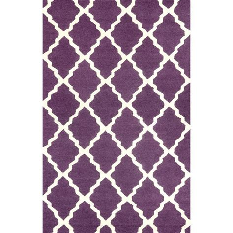 area rugs with purple accents nuloom trellis purple 2 ft x 3 ft accent rug mtvs27h 203