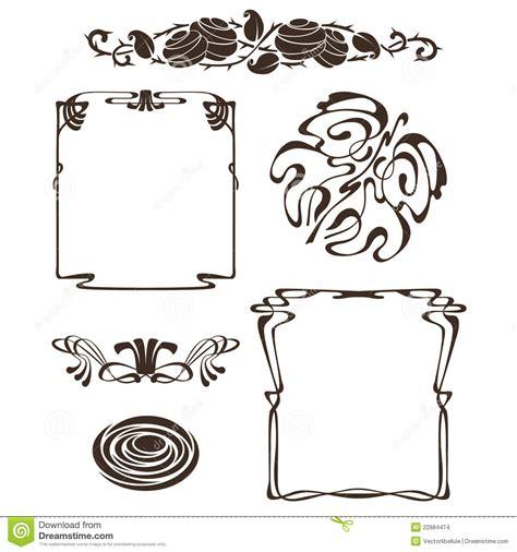 design elements of art nouveau art nouveau design elements stock images image 22884474