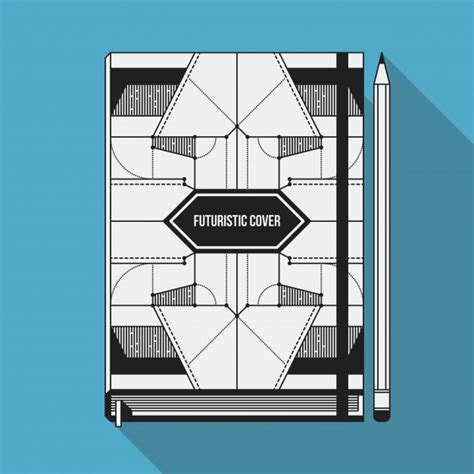 notebook cover design vector free download book cover design template notebook mockup geometric