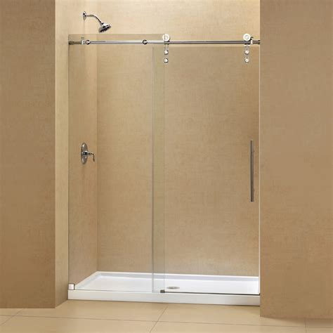 Shower Base Replacement by Showe Doors Frameless Sliding Shower Door In Nickel With