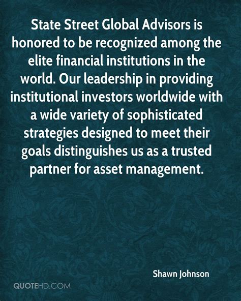 State Global Advisors Mba by Shawn Johnson Quotes Quotehd