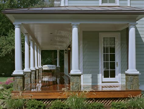 farm house porches new home build in farmhouse style in kensington md