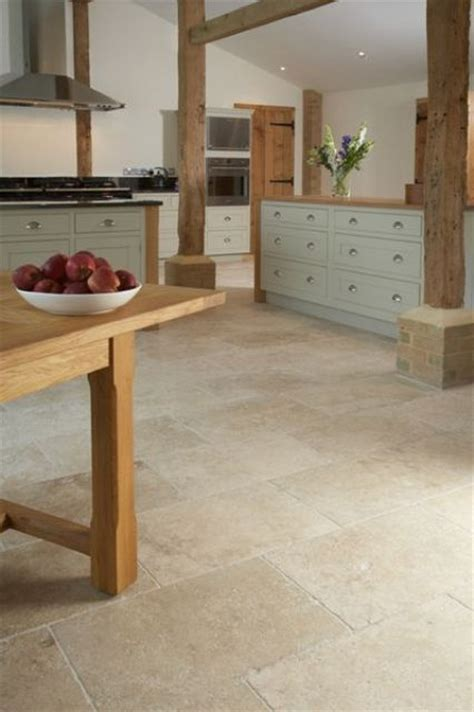 travertine kitchen floor 30 practical and cool looking kitchen flooring ideas digsdigs
