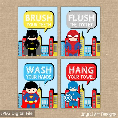 kids bathroom signs superhero bathroom signs spiderman superman captain america