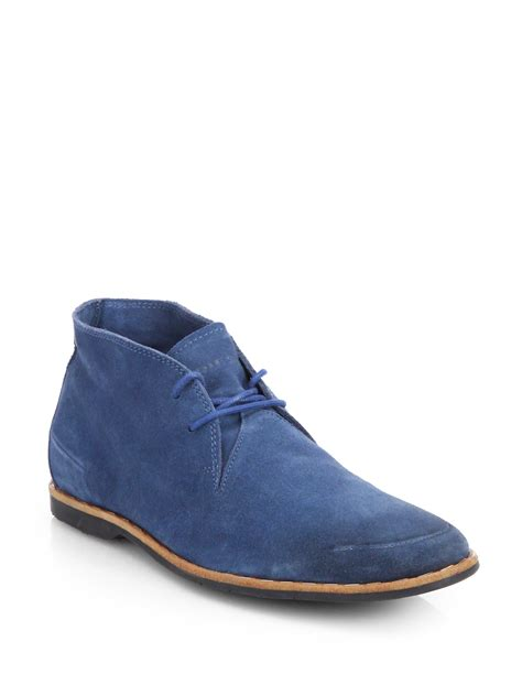 diesel lawless suede chukka boots in blue for lyst